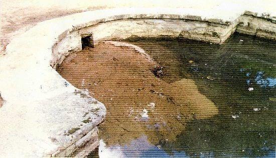 Sedimentos en el fondo del rio