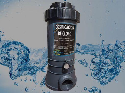 Los dosificadores de cloro permiten controlar las dosis de hipoclorito de calcio que el recurso necesita para su tratamiento.